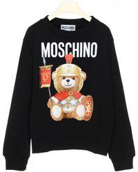 Moschino Roman Teddy Bear Print Black Hoodie