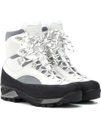 Ganni - Sarai Leather Ankle Boots - Lyst