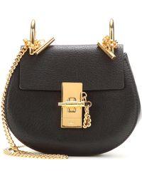 Lyst - Chloé Black Nano Faye Wallet Bag in Black f8c358f43d74