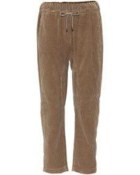 Brunello Cucinelli - Cotton Corduroy Drawstring Pants - Lyst