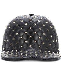 Valentino - Garavani Rockstud Spike Leather Cap - Lyst
