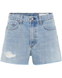 Rag & Bone - Justine Denim Cut-off Shorts - Lyst