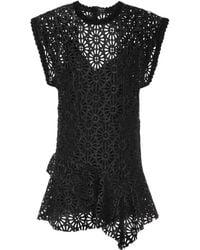 Isabel Marant - Faux Leather Minidress - Lyst