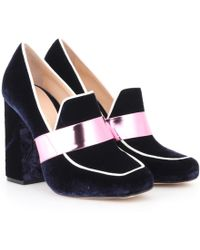Mary Katrantzou - Athos Velvet Loafer Pumps - Lyst