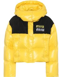 e1305e874d7a Miu Miu - Cropped Down Jacket - Lyst