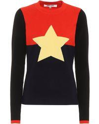 4b6efe78954f Diane Von Furstenberg Laren Wrap Sweater in Black - Lyst