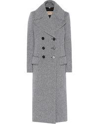 Burberry - Manteau en laine mélangée - Lyst