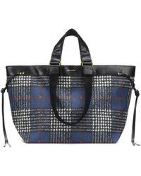 Isabel Marant - Wardy Checked Shoulder Bag - Lyst