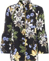 Erdem - Aran Floral-printed Silk Shirt - Lyst