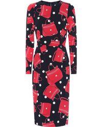 Dolce & Gabbana - Printed Silk Dress - Lyst