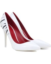 Valentino - Vltn Pumps In White Leather - Lyst