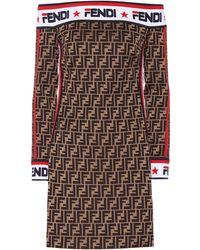 Fendi - MANIA Off-Shoulder-Kleid - Lyst