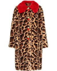 Dolce & Gabbana - Leopard Faux Fur Coat - Lyst