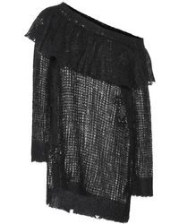 Valentino - Pullover in mohair con paillettes - Lyst