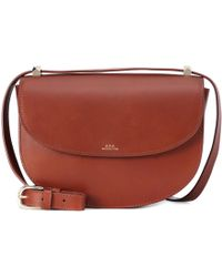 A.P.C. - Genève Leather Shoulder Bag - Lyst