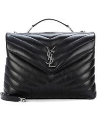 Saint Laurent Large Loulou Monogram Shoulder Bag in Black - Lyst dd432736cb499
