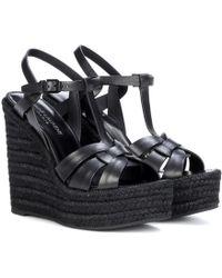 Saint Laurent - Espadrille 85 Leather Sandals - Lyst