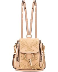 Chloé - Faye Mini Studded Suede Backpack - Lyst