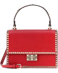 5cd3757cf55 Valentino My Rockstud Striped Leather Satchel Bag - For Women in ...
