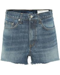 Rag & Bone - High-rise Denim Shorts - Lyst
