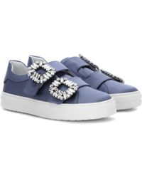 Roger Vivier - Sneaky Viv' Satin Trainers - Lyst