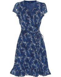 Polo Ralph Lauren - Floral Cotton Wrap Dress - Lyst