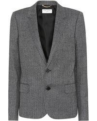 Saint Laurent   Herringbone Wool Blazer   Lyst