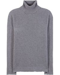 Valentino - Ribbed Wool And Cashmere Turtleneck Jumper - Lyst