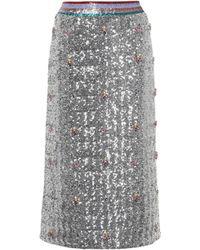 Mary Katrantzou - Sigma Sequin Skirt - Lyst