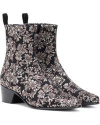 Pierre Hardy - Reno Floral Brocade Ankle Boots - Lyst