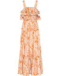 Johanna Ortiz - Tropical Waves Cotton Maxi Dress - Lyst