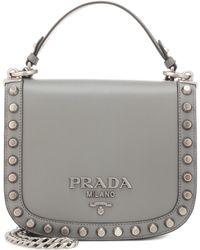 Prada - Pionnière Leather Shoulder Bag - Lyst