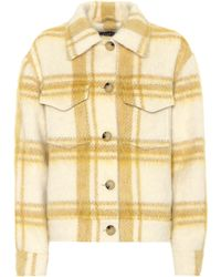 ALEXACHUNG - Checked Wool-blend Jacket - Lyst