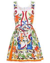 Dolce & Gabbana - Miniabito a stampa in cotone - Lyst