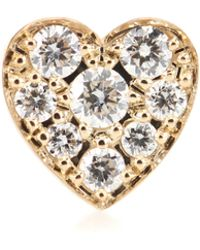 Sophie Bille Brahe - Petite Coeur 18kt Gold And Diamond Single Earring - Lyst