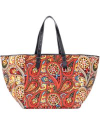 JW Anderson - Printed Leather-trimmed Tote - Lyst