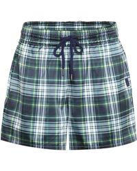 PUMA - Plaid Satin Shorts - Lyst
