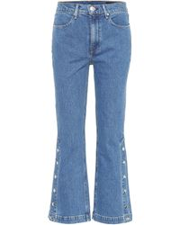 Rag & Bone - Dylan High-waisted Cropped Jeans - Lyst