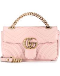 d377f79721a2 Gucci Gg Marmont Medium Shoulder Bag in Purple - Lyst