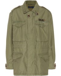 Polo Ralph Lauren - Cotton Twill Military Jacket - Lyst