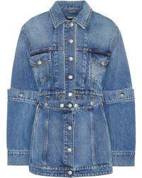 Alexander McQueen - Deconstructed Denim Jacket - Lyst