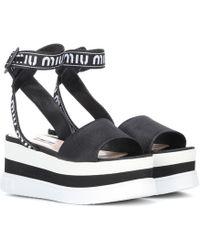 Miu Miu - Platform Sandals - Lyst