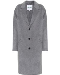KENZO - Wool And Cashmere Coat - Lyst
