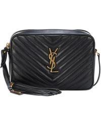 Saint Laurent - Lou Leather Shoulder Bag - Lyst d15ea07f6d