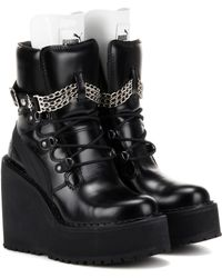 PUMA - Rihanna Embellished Leather Wedge Ankle Boots - Lyst