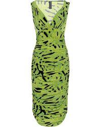 Norma Kamali - Printed Ruched Dress - Lyst