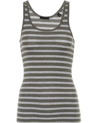 ATM - Striped Jersey Tank Top - Lyst