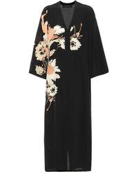 Etro Printed Silk Midi Dress - Black