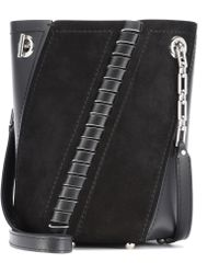 Proenza Schouler - Mini Hex Leather And Suede Bucket Bag - Lyst
