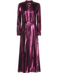 d115bc84f73 Burberry - Metallic Silk-blend Maxi Dress - Lyst